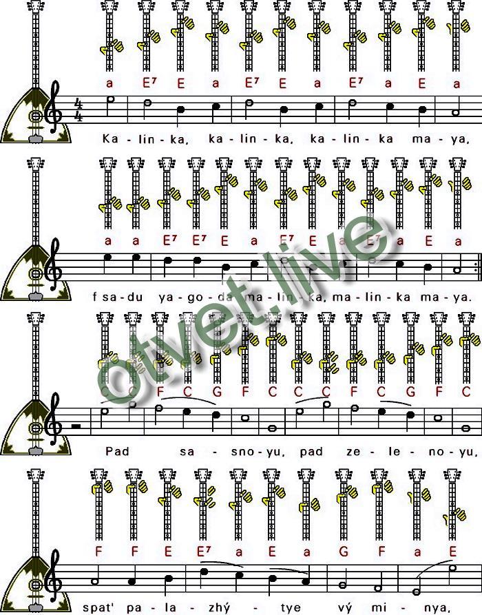 аккорды для балалайки картинки битаров пользуется