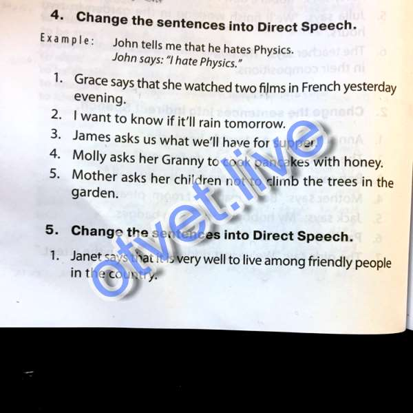 """Grace says: """"I watched two films in French yesterday evening"""" I says:""""I want"""
