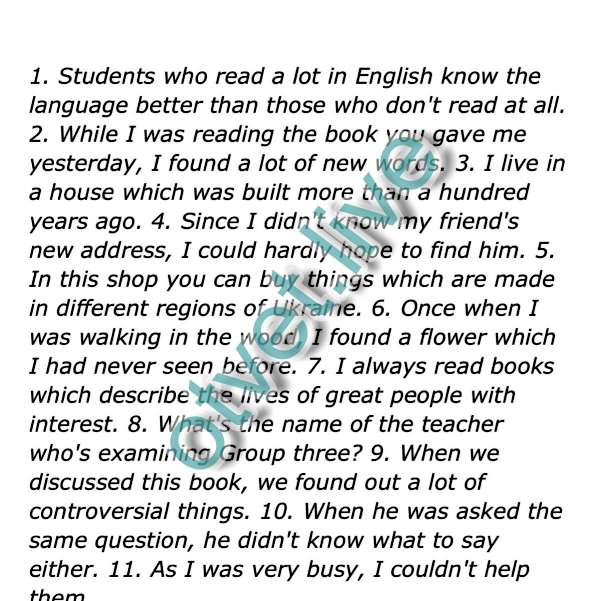 1 Well-read students know … 2 while reading the book … 3 …