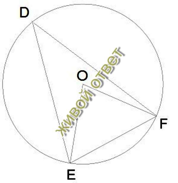 Вписанный угол равен половине дуги, на которую опирается, а центральный-всей дуге=gt;центральный=2вписанным углам L