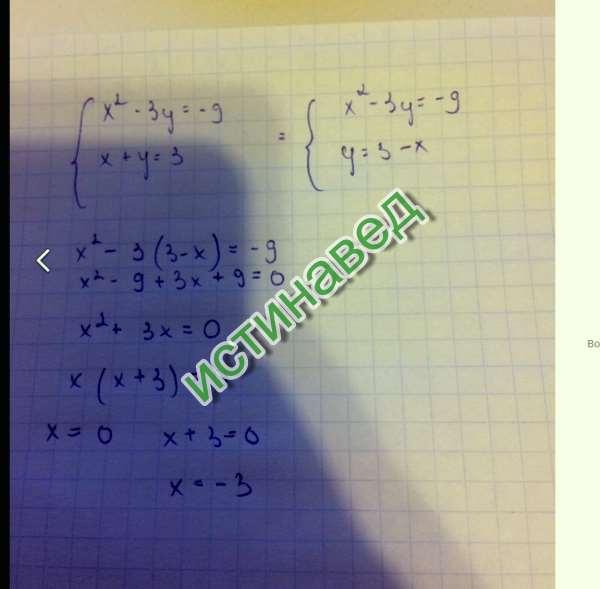 Решение во вложении x1= 0 x2= -3
