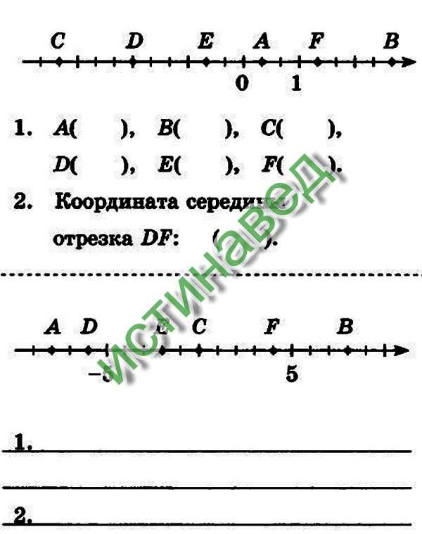 1. А( 1/3 )В ( 2 2/3 )С ( - 3 1/3 )D