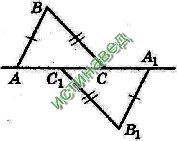 Данные треугольники равны по третьему признаку равенства треугольников, следовательно в равных треугольниках, напротив